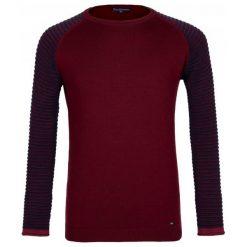 Paul Parker Sweter Męski M Burgundowy. Niebieskie swetry klasyczne męskie marki Oakley, na lato, z bawełny, eleganckie. Za 169,00 zł.