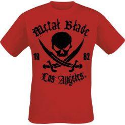 Metal Blade Pirate Logo T-Shirt czerwony. Czerwone t-shirty męskie Metal Blade, m, z napisami. Za 74,90 zł.