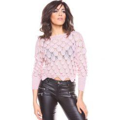 """Swetry klasyczne damskie: Sweter """"Maxime"""" w kolorze jasnoróżowym"""