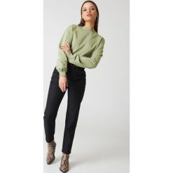 NA-KD Basic Bluza basic - Green. Różowe bluzy damskie marki NA-KD Basic, prążkowane. Za 100,95 zł.