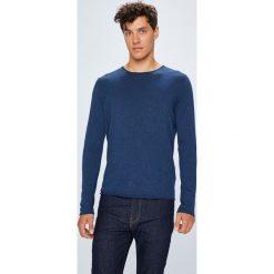 Selected - Sweter. Niebieskie swetry klasyczne męskie marki Reserved, l, z okrągłym kołnierzem. Za 169,90 zł.