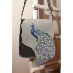Niewielka torebka skórzana dla kobietki. Szare torebki klasyczne damskie Pakamera, z motywem z bajki, ze skóry. Za 230,00 zł.
