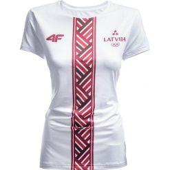 T-shirty damskie: Koszulka funkcyjna damska Łotwa Pyeongchang 2018 TSDF800 – biały