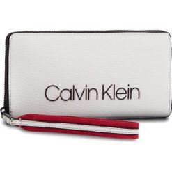 Portfele damskie: Duży Portfel Damski CALVIN KLEIN BLACK LABEL – Pop Touch Large Zipa K60K604309  002