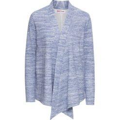 Bluza rozpinana z długim rękawem bonprix niebieski melanż. Niebieskie bluzy rozpinane damskie bonprix, melanż, z długim rękawem, długie. Za 49,99 zł.