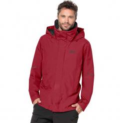 """Kurtka funkcyjna """"Escalente"""" w kolorze czerwonym. Czarne kurtki męskie marki Jack Wolfskin, w paski, z materiału. W wyprzedaży za 565,95 zł."""