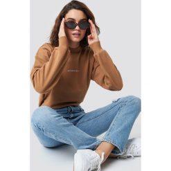 NA-KD Bluza Nothing Personal - Brown. Brązowe bluzy rozpinane damskie NA-KD, z nadrukiem, z długim rękawem, długie. Za 161,95 zł.