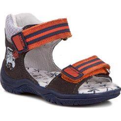 Sandały BARTEK - 61568-76G Pomarańczowy Szary. Brązowe sandały męskie skórzane marki Bartek. W wyprzedaży za 99,00 zł.