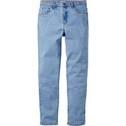 Dżinsy ze stretchem Classic Fit Tapered bonprix jasnoniebieski. Niebieskie jeansy męskie regular bonprix. Za 89,99 zł.