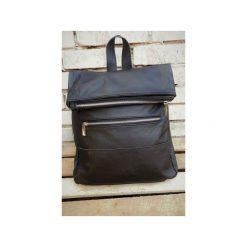 Plecak skórzany DONALD z metalowym zamkiem. Czarne plecaki damskie Pracownia6-9, ze skóry. Za 260,00 zł.