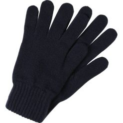 Johnstons Cashmere HAY Rękawiczki pięciopalcowe navy. Niebieskie rękawiczki damskie Johnstons Cashmere, z materiału. Za 209,00 zł.