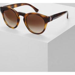 Emporio Armani Okulary przeciwsłoneczne havana. Brązowe okulary przeciwsłoneczne damskie aviatory Emporio Armani. Za 479,00 zł.