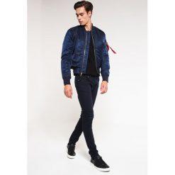 Topman MORGAN Jeans Skinny Fit dark blue. Niebieskie rurki męskie Topman. Za 229,00 zł.