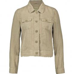 Kurtka dżinsowa w kolorze oliwkowym. Brązowe kurtki damskie marki Taifun. W wyprzedaży za 173,95 zł.