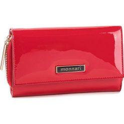 Duży Portfel Damski MONNARI - PUR0701-005  Red Lacquer. Czerwone portfele damskie Monnari, z lakierowanej skóry. W wyprzedaży za 159,00 zł.