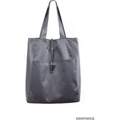 Shopper bag damskie: Shopper WODOOPORNY / stalowy