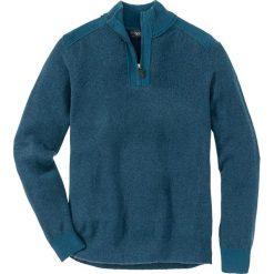 Sweter ze stójką Regular Fit bonprix niebieskozielony melanż. Niebieskie golfy męskie marki bonprix, m, melanż, z dzianiny. Za 59,99 zł.