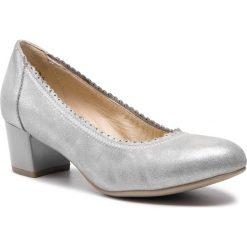 Półbuty CAPRICE - 9-22304-22 Silver Glitter 944. Szare półbuty damskie skórzane Caprice, na obcasie. Za 249,90 zł.