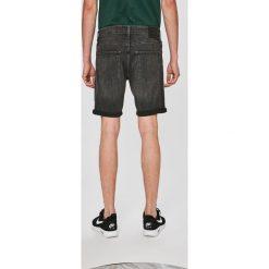 Jack & Jones - Szorty Rick. Czarne spodenki jeansowe męskie marki Jack & Jones, l, z okrągłym kołnierzem. W wyprzedaży za 99,90 zł.