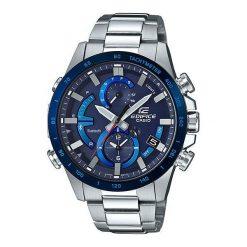 Biżuteria i zegarki męskie: Zegarek Casio Męski EQB-900DB-2AER Edifice BT 4.0 Solar Smart srebrny