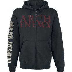 Bluzy męskie: Arch Enemy Doomsday machine Bluza z kapturem rozpinana czarny