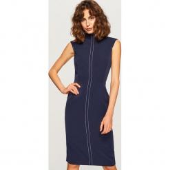 Sukienka bez rękawów - Granatowy. Niebieskie sukienki marki Reserved, bez rękawów. W wyprzedaży za 69,99 zł.