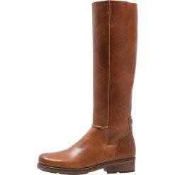 HUB KATHLEEN Kozaki cognac/nat. Brązowe buty zimowe damskie HUB, z materiału. W wyprzedaży za 671,20 zł.