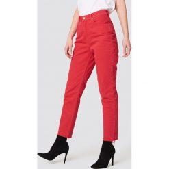 Cheap Monday Jeansy Donna OD Red - Red. Czerwone spodnie z wysokim stanem Cheap Monday, z denimu. Za 242,95 zł.