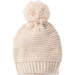 Czapka melanżowa bonprix perłowy beżowy - matowy beżowy - złoty kolor melanż. Brązowe czapki zimowe damskie marki bonprix. Za 29,99 zł.