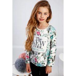 Bluzy dziewczęce rozpinane: Miętowa kwiecista bluza dziewczęca NDZ7824
