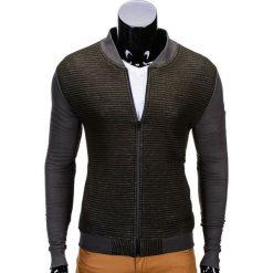 Bluzy męskie: BLUZA MĘSKA ROZPINANA BEZ KAPTURA B551 – ZIELONA/MELANŻOWA