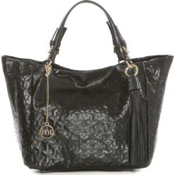 Torebki klasyczne damskie: Skórzana torebka w kolorze czarnym – 42 x 30 x 20 cm