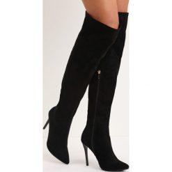 Czarne Kozaki Last Step. Czarne buty zimowe damskie marki Born2be, na wysokim obcasie, na szpilce. Za 104,99 zł.