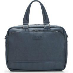 Torba na laptopa 87-4P-113-N. Niebieskie torby na laptopa marki Wittchen, z aplikacjami, matowe. Za 319,00 zł.