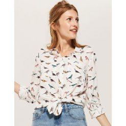Koszula z wiskozy - Jasny szar. Szare koszule damskie marki House, l, z wiskozy. Za 59,99 zł.