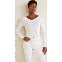 Mango - Bluzka Reswan. Szare bluzki z odkrytymi ramionami marki Mango, l, z dzianiny. Za 59,90 zł.