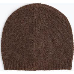 Marie Lund - Damska czapka z czystego kaszmiru, brązowy. Brązowe czapki damskie Marie Lund, z kaszmiru. Za 229,95 zł.