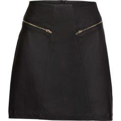 Spódnica ze sztucznej skóry z zamkiem bonprix czarny. Czarne spódniczki skórzane marki KALENJI. Za 109,99 zł.