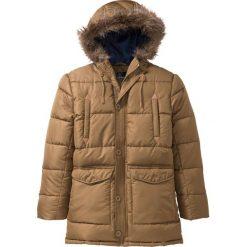 Kurtka parka zimowa Regular Fit bonprix brązowy. Brązowe kurtki męskie zimowe marki LIGNE VERNEY CARRON, m, z bawełny. Za 219,99 zł.