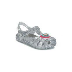 Sandały Dziecko  Crocs  CROCS ISABELLA NOVELTY SANDAL. Szare sandały dziewczęce marki Crocs. Za 149,00 zł.