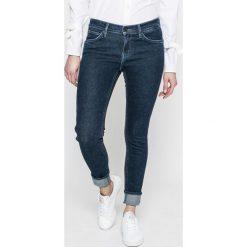 Levi's - Jeansy 501. Brązowe jeansy damskie rurki marki Levi's®, z aplikacjami, z bawełny. W wyprzedaży za 239,90 zł.