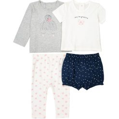 Piżama z bawełny z nadrukiem 0-3 lat (zestaw 2 szt.). Niebieskie bielizna dziewczęca marki La Redoute Collections, z nadrukiem, z bawełny. Za 70,52 zł.
