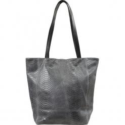 """Skórzany shopper bag """"Arizona"""" w kolorze szarym - 26 x 23 x 11 cm. Szare shopper bag damskie Spécial maroquinerie, z materiału. W wyprzedaży za 195,95 zł."""