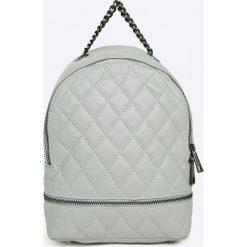 Answear - Plecak skórzany Stripes Vibes. Szare plecaki damskie marki ANSWEAR, z materiału. W wyprzedaży za 199,90 zł.