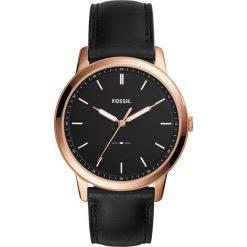 Zegarek FOSSIL - The Minimalist FS5376 Black/Rose Gold. Różowe zegarki męskie marki Fossil, szklane. Za 479,00 zł.