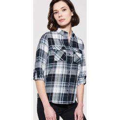 Koszula w kratę - Niebieski. Czarne koszule męskie marki House, l, z nadrukiem. Za 79,99 zł.