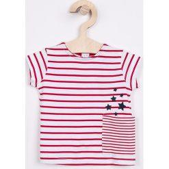 Blukids - Top dziecięcy 68-98 cm. Różowe bluzki dziewczęce bawełniane Blukids, z okrągłym kołnierzem, z krótkim rękawem. W wyprzedaży za 27,90 zł.