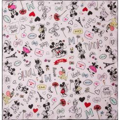 """Chusty damskie: Chusta """"Micki and Minni"""" w kolorze kremowym ze wzorem – 53 x 53 cm"""