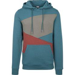 Bluzy męskie: Urban Classics Zig Zag Hoodie Bluza z kapturem niebiesko-zielony/khaki/czerwony
