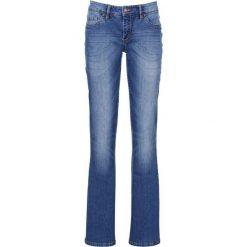 """Dżinsy """"authentik-stretch"""" z paskiem BOOTCUT bonprix niebieski. Niebieskie boyfriendy damskie bonprix. Za 129,99 zł."""